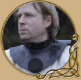 Leather gorget, reinforced with steel plates